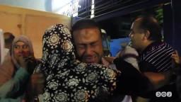 أسرة الشهيد عبدالفتاح إبراهيم تودعه