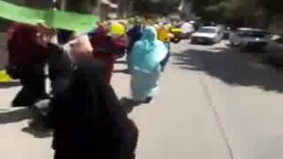 شباب وسط الاسكندرية يخرجن في مسيرة بمحرم بك