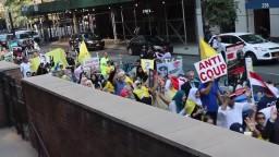 مسيرة ضخمة في نيويورك فى ذكرى فض رابعة