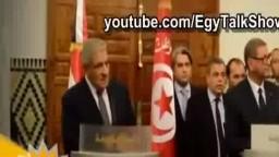 صحفى يحرج محلب فى تونس: انت متهم بالفساد