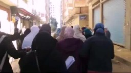 مسيرة حاشدة بالمعمورة - منددة بالانقلاب العسكري