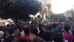 حشود المتظاهرين بميدان المساحة بالدقي