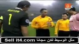 بوفون يرفض مصافحة لاعب مكابى الاسرائيلى