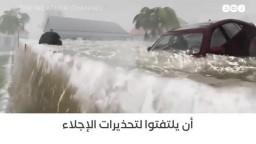 قناة أميركية تعرض الأثار المدمرة لإعصار فلورنس بطريقة مذهلة