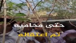 أسرة الناشط المعتقل علاء عبدالفتاح تحتفل بعيد ميلاده الـ38 أمام سجن طرة