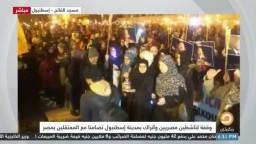 وقفة لناشطين مصريين وأتراك بمدينة إسطنبول تضامنا مع المعتقلين في مصر