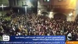 الفجر العظيم بالمسجد الاقصى ومشاركة حشود الفلسطينيين رغم التضييق