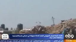 طائرات صهيونية تقصف أهدافا بشمال سيناء