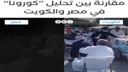نشطاء يقارنون بين تحليل الكورونا في مصر والكويت