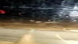 سيول طريق مصر السويس  وجرف العديد من السيارات