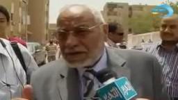 تصريح للاستاذ مهدى عاكف فى الانتخابات الرئاسية2012