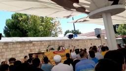 صلاة الغائب على الشهيد د.عصام العريان مع كلمات تأبينية من أمام مسجد الفاتح بإسطنبول.