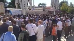 صلاة الغائب على فضيلة المرشد العام السابق لجماعة الإخوان بمسجد الفاتح