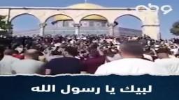 وقفة غضب بعد صلاة الجمعة بالمسجد الأقصى المبارك؛ رفضاً للإساءة للرسول ﷺ