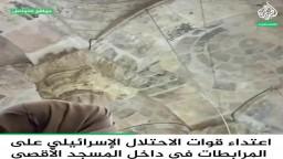 اعتداء قوات الاحتلال على المرابطات داخل المسجد الأقصى