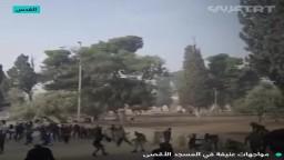 مواجهات عنيفة في المسجد الأقصى
