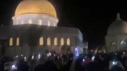 ردة فعل المرابطون بعد خروج قوات الاحتلال من المسجد الاقصى