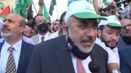 مسيرة تضامنية للحركة الاسلامية مع المسجد الأقصى و قطاع غزة من المسجد الحسيني
