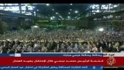الرئيس مرسي: انتهى عهد بيع القطاع العام ..والعمال هم عصب مصر