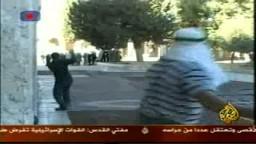 صور الاشتباكات التى وقعت فى الحرم القدسى بين قوات الصهاينة والفلسطينيين الذين تصدوا لهم