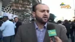 اعتصام صحفييين تضامنا مع عامر أبو عرفة المعتقل في سجون فتح