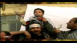 الأطفال بميدان التحرير يهتفون لرحيل مبارك .. حصرياً
