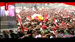وائل الإبراشى يتحدث للمتظاهرين فى جمعة النصر بميدان التحرير