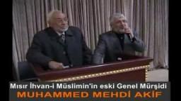 المرشد السابق محمد مهدي عاكف في مؤتمر لذكرى القائد التركي نجم الدين اربكان
