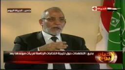 حوار فضيلة المرشد العام أ.د/ محمد بديع .. قناة الحياة ..6