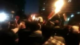 فجر جمعة القصاص- المتظاهرين يطالبون بإقالة منصور العيسوي