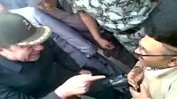 بساطة اللواء محسن الفنجري يوم الإستفتاء في وسط الجماهير وكلمة تدل على إيمان عميق
