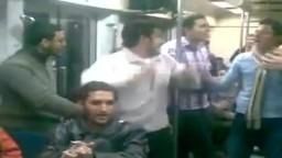 شباب الإخوان ينشدون في المترو