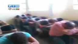 سوريا- قوات القمع الاسدية تعتقل المواطنين وتضعهم في المدارس وتهينهم ج2