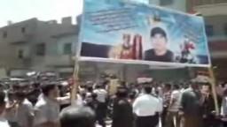 جنازة سادس شهداء أحداث سيناء الحدودية المجند عماد عبد الملاك شحاتة  الذى توفى فجر  السبت متأثراً بجراحه