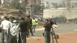 اعتداءات جنود الجيش الصهيوني على  اعتصامات سلمية فلسطينية تضامنا مع الأسرى
