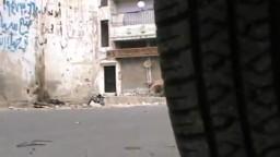 سوريا- حمص الخالدية:  الدبابات الاسدية تتجه الى البياضة لقصف المواطنين العزل 26 10 2011