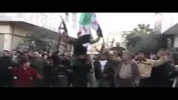 سوريا - حمص - احتفال أهالي بابا عمرو بقدوم الجيش السوري الحر كتيبة الفاروق