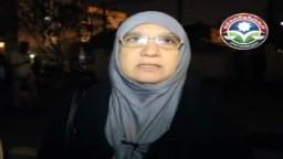 د.منال ابو الحسن عقب الخروج من لجنة الفرز
