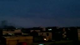 شام ريف دمشق عربين اطلاق قذائف على المنازل من قبل عصابات الاسد واعمدة الدخان تتصاعد 9 12