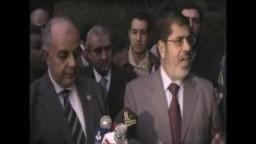 د محمد مرسى- رئيس حزب الحرية والعدالة-  و رؤيته للدستور التوافقى المطلوب-- خلال جولة من أمام مدرسة جمال عبد الناصر بالدق
