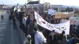 سوريا-- إطلاق نار من أحد الشبيحة على المتظاهرين  28- 12