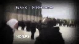 فلسطينيات يتعرضن للضرب ، باحات المسجد الاقصى ! 24_2_2012