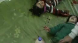 سوريا تستغيث- القصير طفلتين مصابتين بشظايا