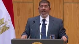 الرئيس مرسي يدعوا ابناء الشعب المصري للعمل والبناء
