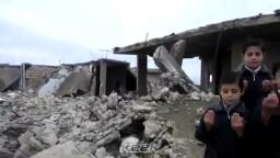 أطفال سوريا الأحرار يدعون الله لنصرة الشعب السورى