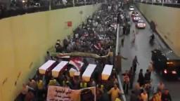 مسيرة بالنعوش بأسيوط لتنديد بمجازر العسكر