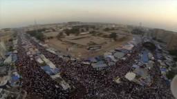 أول صور جوية لاعتصام رابعة العدوبة