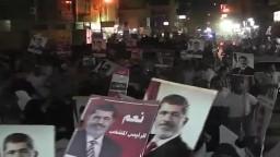 مسيرات مؤيدي مرسي تجوب شوارع الفيوم