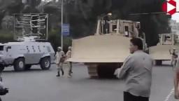 لحظة اقتحام الجيش والشرطة اعتصام النهضة