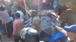 لحظة حرق الجثث أثناء فض اعتصام رابعة